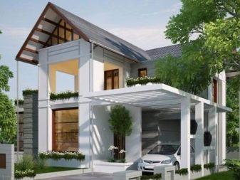 Rumah Dengan Garaj 98 Gambar Garaj Kecil Kayu Dengan Loteng Untuk 2 Buah Kereta Di Bawah Satu Bumbung Versi Bata Dengan Pintu Masuk Bawah Tanah