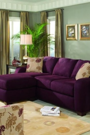 Purple sofa (51 photos): lilac and dark purple in the ...