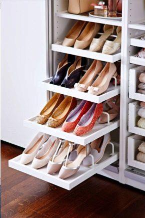 Sistemas de almacenamiento de zapatos.