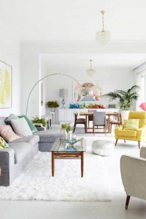 Sala de estar de estilo escandinavo con diseño de interiores.