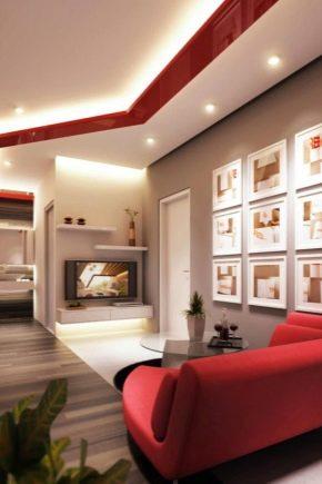 Salón interior: ideas de diseño moderno.