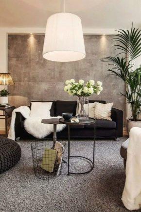 Las sutilezas de diseño de la sala de área de 18 metros cuadrados. m en el apartamento