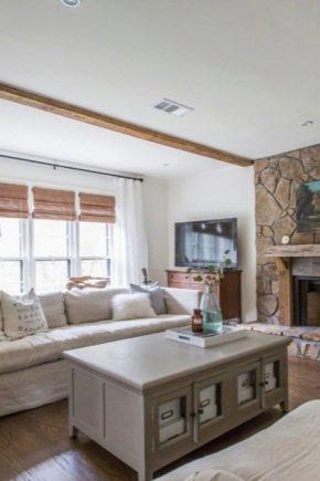 Le sottigliezze del design del soggiorno in una casa privata