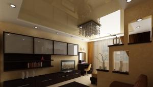 Σχεδιασμός κουζίνας-σαλόνι 20 τετραγωνικών μέτρων. m