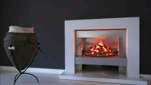 Electric fireplaces with live flame effect