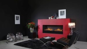 Fireplace electric with effect of a 3D flame
