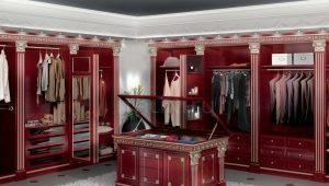 ตู้เสื้อผ้ามุมในห้องแต่งตัว