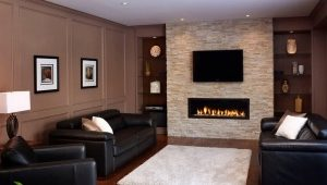 Hall with fireplace - tips on arranging