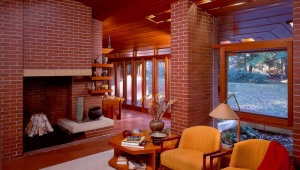 Brick fireplaces for the house