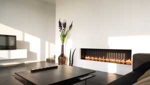 Gas fireplace for home