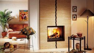 Ceramic tile for fireplaces
