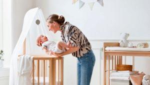 Οβάλ βρεφικές κούνιες για νεογέννητα