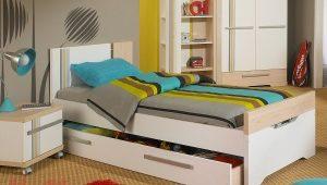 Εφηβικό κρεβάτι με συρτάρια