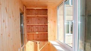Shelves on the balcony