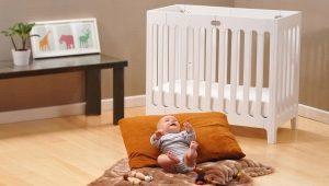 신생아 용 아기 침대의 크기