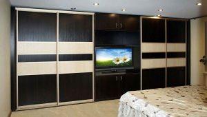 Sliding wardrobe with TV niche