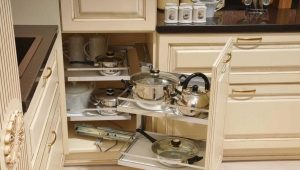 Sliding kitchen cabinets