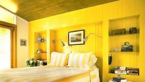 Camera da letto nei toni grigio-violetto (33 foto): interior ...