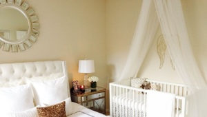 Bedroom and nursery in the same room