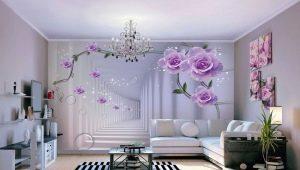 Fondo de pantalla 3D para la sala: ampliar los límites en el apartamento