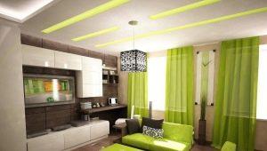 El diseño de la sala de estar 16 cuadrados. m: crear un interior armonioso
