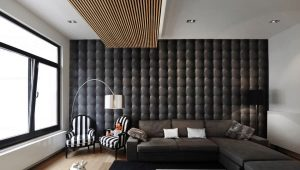 Design of the walls in the living room: modern design ideas