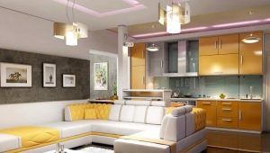 Kitchen-living room interior: stylish design of the combined room