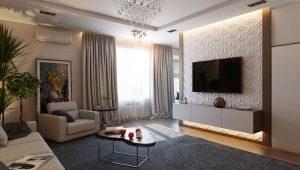 Kā organizēt TV dzīvojamās istabas interjerā?