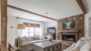 Dzīvojamās istabas dizaina smalkums privātmājā