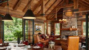 Las sutilezas del diseño de la sala de estar en el estilo rural.
