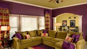 Elegir el color de las paredes en la sala de estar: hermosas combinaciones