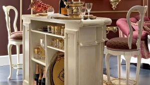Choosing a cabinet for the living room bar