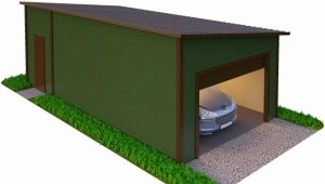 Garage of sandwich panels: pros and cons
