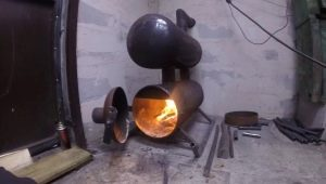 How to make a furnace for the garage of the gas cylinder?