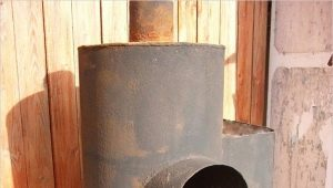 How to make a bath stove out of the pipe?