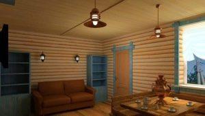 Casa de bloques para la decoración de interiores: las características del material y el trabajo con él.