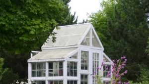 The details of making greenhouses from window frames