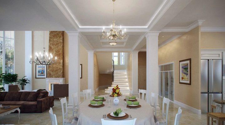 Σχεδιασμός κουζίνας ως σαλόνι-τραπεζαρία σε ιδιωτικό σπίτι