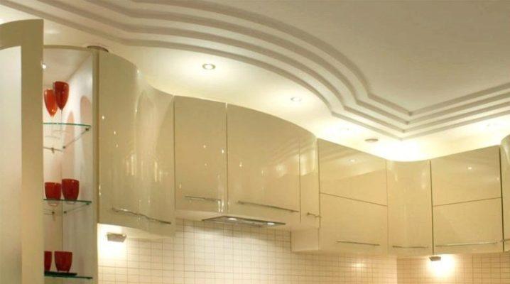 Das Design der Decke aus Gipskarton in der Küche (56 Fotos ...
