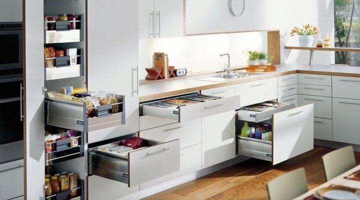 Riempimento per mobili da cucina (78 foto): ordine interno ...