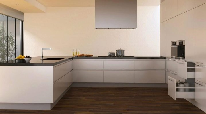 Pavimento laminato impermeabile in cucina (72 foto ...