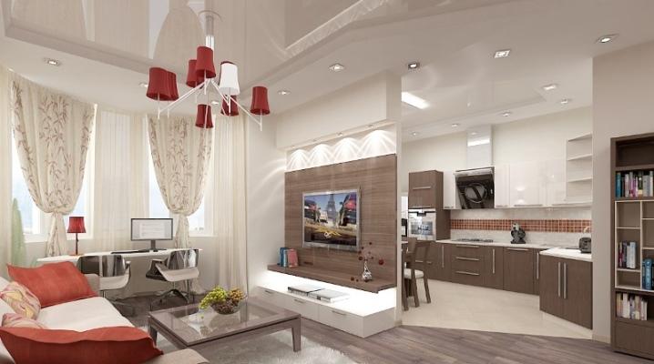 Das Layout der Küche-Esszimmer und Wohnzimmer (70 Fotos ...