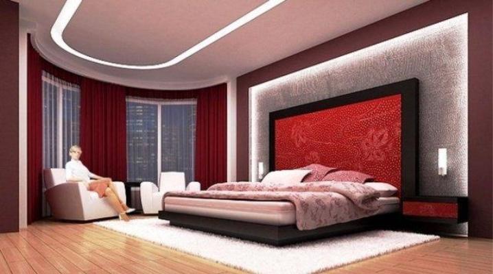 Slaapkamer Rood Zwart.Rode Slaapkamer 63 Foto S Interieur In Wit En Rood En