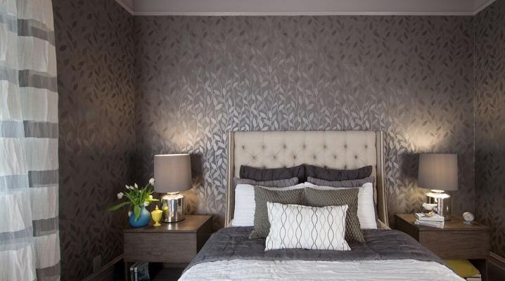 Kertas Dinding Berwarna Kelabu Di Dalam Bilik Tidur 43