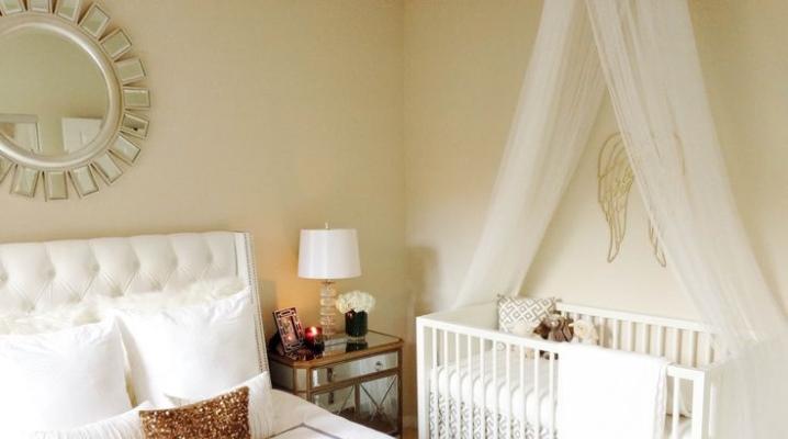 Camera da letto e asilo nella stessa stanza