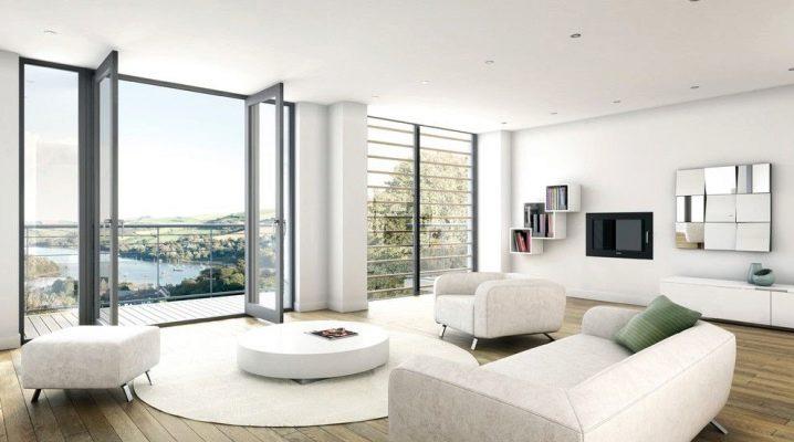 Λευκό καθιστικό: όμορφες επιλογές εσωτερικού σχεδιασμού