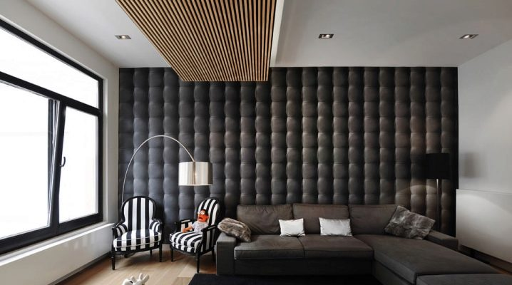 Diseño de las paredes en el salón: ideas de diseño moderno.