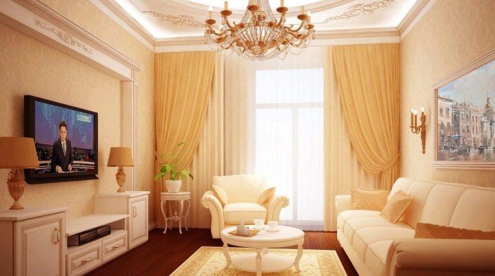 Sala de estar de estilo clásico: hermosas soluciones para su interior.