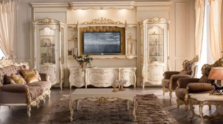 Muebles italianos para el salón: elegancia en diferentes estilos.
