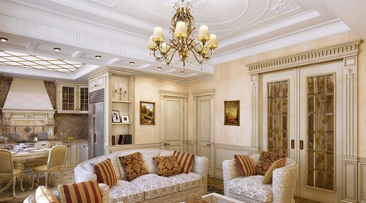 ¿Cuáles deberían ser los muebles para la sala de estar en un estilo clásico?